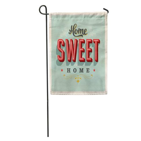 SIDONKU Sign Vintage Home Sweet Retro House Saying 50S Fifties 1950S Garden Flag Decorative Flag House Banner 12x18 inch