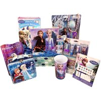 Gift Basket Idea 10 Frozen Themed Items for Girls With Bracelet, Novelties, Tin Purse, Diary, Nail and Hair Accessories