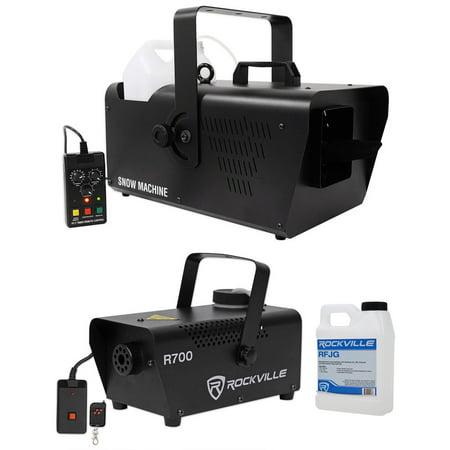 Chauvet DJ SM 250 Portable DMX Snow Machine w/ Remote+Free Fog Machine w/ Remote