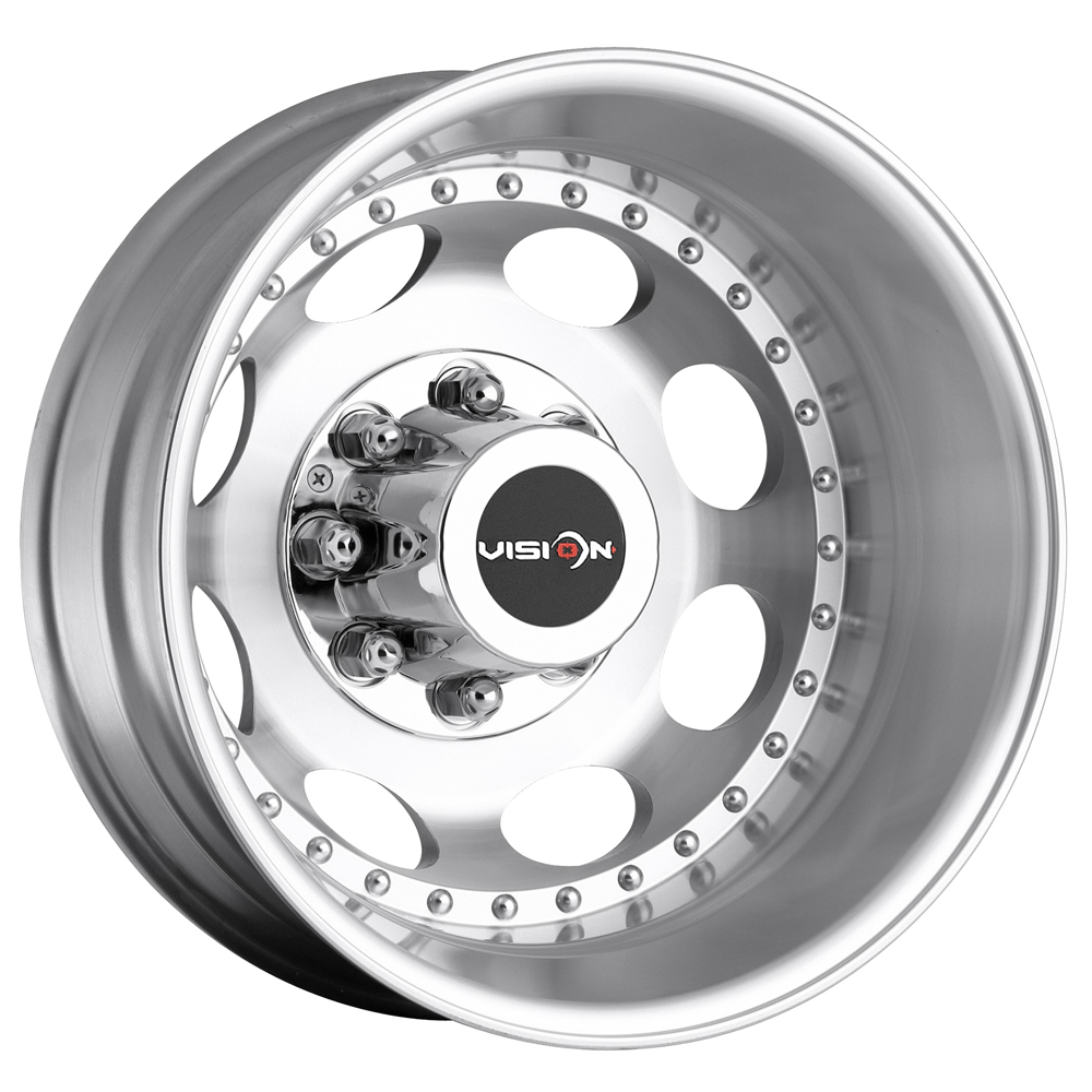 "19.5"" Inch Vision 181 Hauler Dually Rear 8x6.5"" -143mm Machined Wheel Rim"