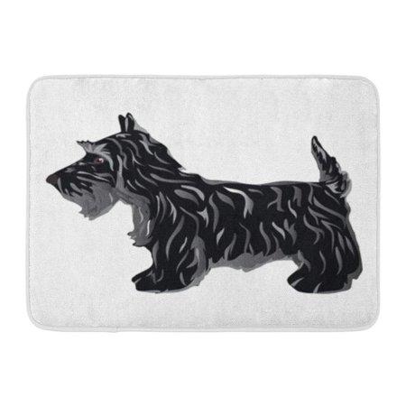KDAGR Scotty Black Scottie Dog Terrier Silhouette Doormat Floor Rug Bath Mat 23.6x15.7 inch