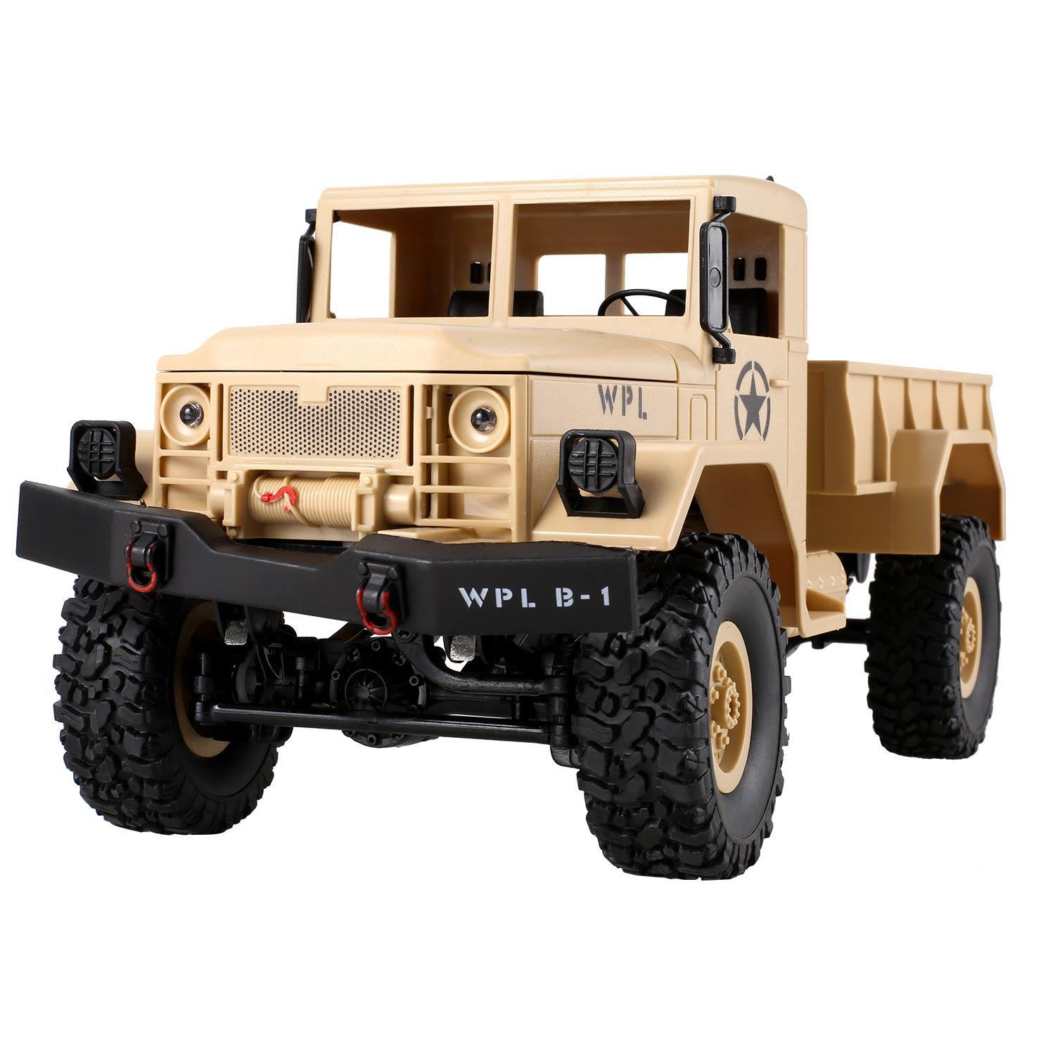 Christmas  Clearance! 2.4G RC Jeep Electric Miitary Truck 1:16 Scale 4x4 4WD Off-Road Car with Lights CDICT