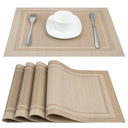 Set of 4 placemats placemats for dining table heat for Table mats design your own