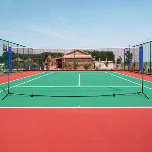 Details about  /14 Feet Portable Badminton Volleyball Tennis Net Set with Stand Frame Carry Bag