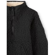 Wonder Nation Mock Neck Quarter Zip Boucle Lined Sherpa Jacket (Toddler  Boys)