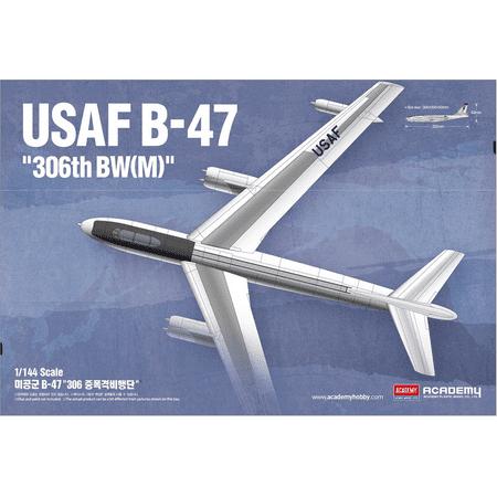 Academy 12618 Boeing B-47E Stratojet 1/144 Scale Plastic Model (Boeing B47 Stratojet Bomber)