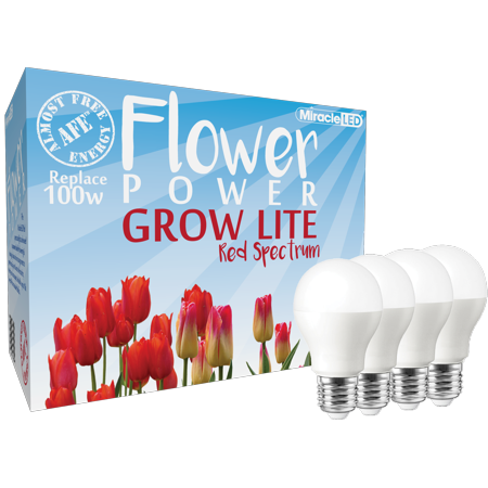 Miracle LED Absolute Daylight Red Flower Power LED Grow Lite - Replaces up to 100 Watt - Red Light For Fruiting and Flowering, Indoor gardening, DIY Horticulture & Hydroponic Growing - Miracle Watts Halloween