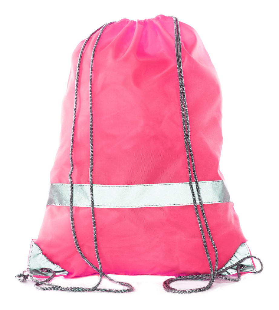 Mato & Hash Reflective Cinch Bag | High Visability | Great For Runners & Events - 20PK Shock Pink CA2525