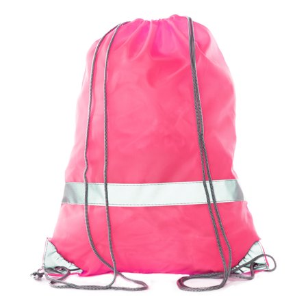 Mato & Hash Reflective Cinch Bag | High Visability | Great For Runners & Events - Shock Pink - Disney Cinch Bag