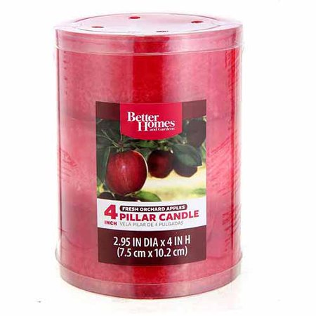 Better Homes And Gardens 4 Pillar Candle Fresh Picked Apple