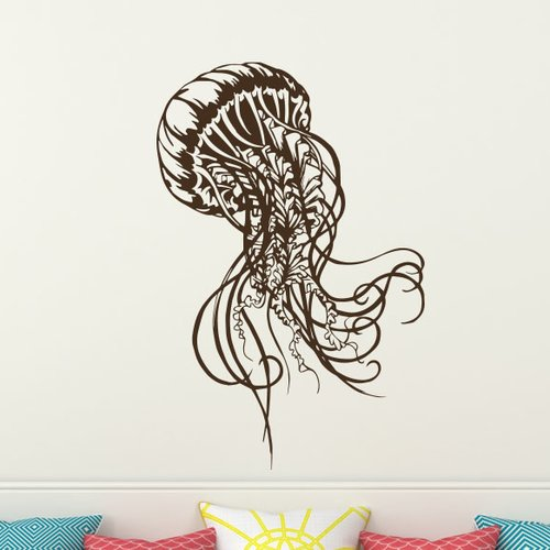 Decal House Jellyfish Bathroom Decor Wall Decal