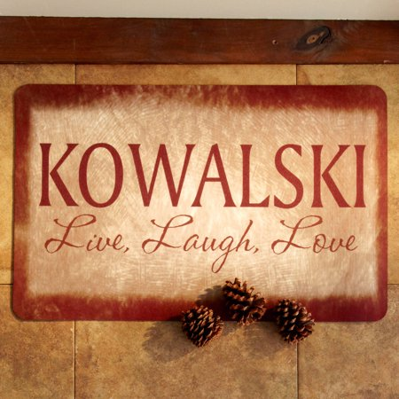 Personalized Live, Laugh, Love Doormat 17