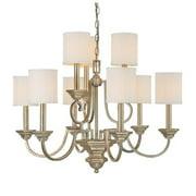 Capital Lighting Fifth Avenue 9 Light Chandelier, Winter Gold - 4009WG-484