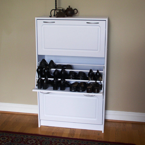 Elegant Latitude Run Triple 36 Pair Shoe Storage Cabinet