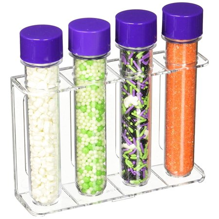 710-2055 Halloween Test Tube Sprinkle Set, Assorted, Halloween themed test tubes with a variety of sprinkles and edible decor By Wilton - Theme Tune To Halloween