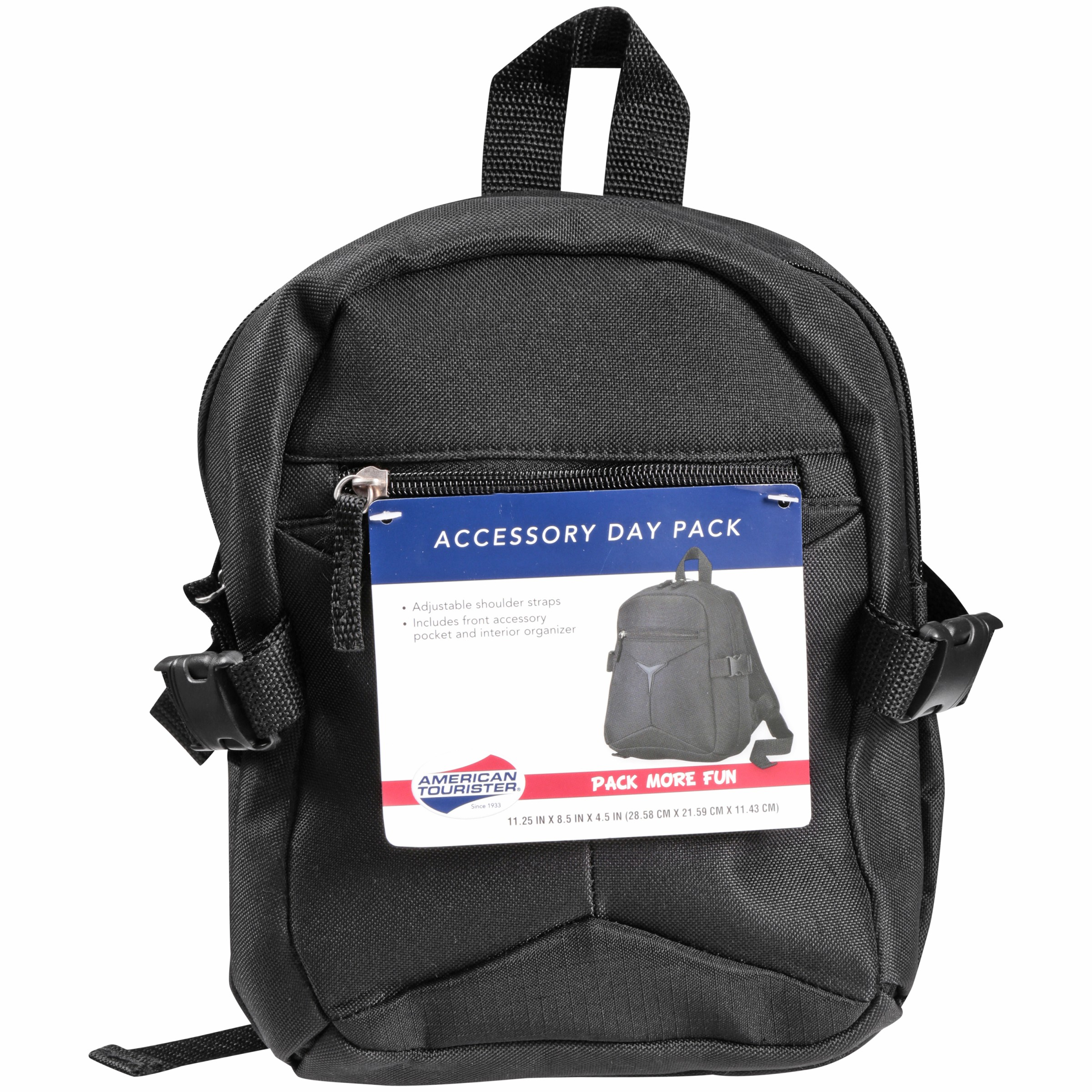 ee2ad95dff4 American Tourister - Black Accessory Day Pack - Walmart.com
