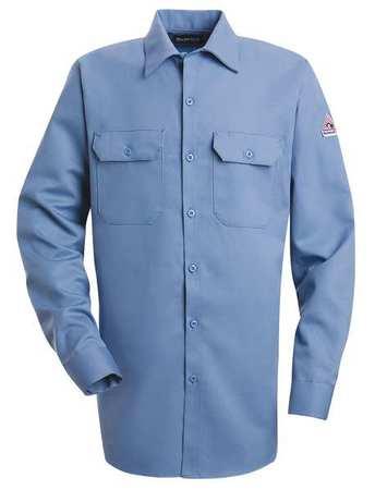 BULWARK FR Long Sleeve Shirt,Button,Lt Blue,XLT SLW2LB LN XL