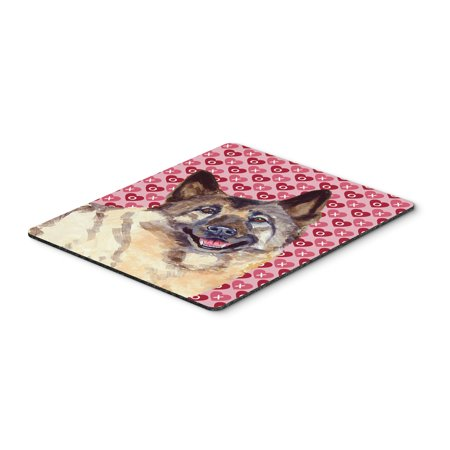 Norwegian Elkhound Hearts Love Valentine's Day Mouse Pad, Hot Pad or Trivet