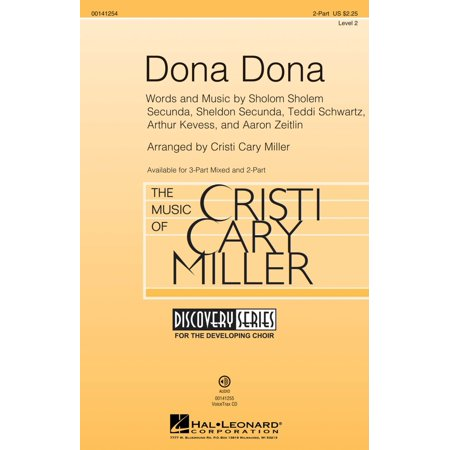 Hal Leonard Dona Dona  Discovery Level 2  2 Part Arranged By Cristi Cary Miller