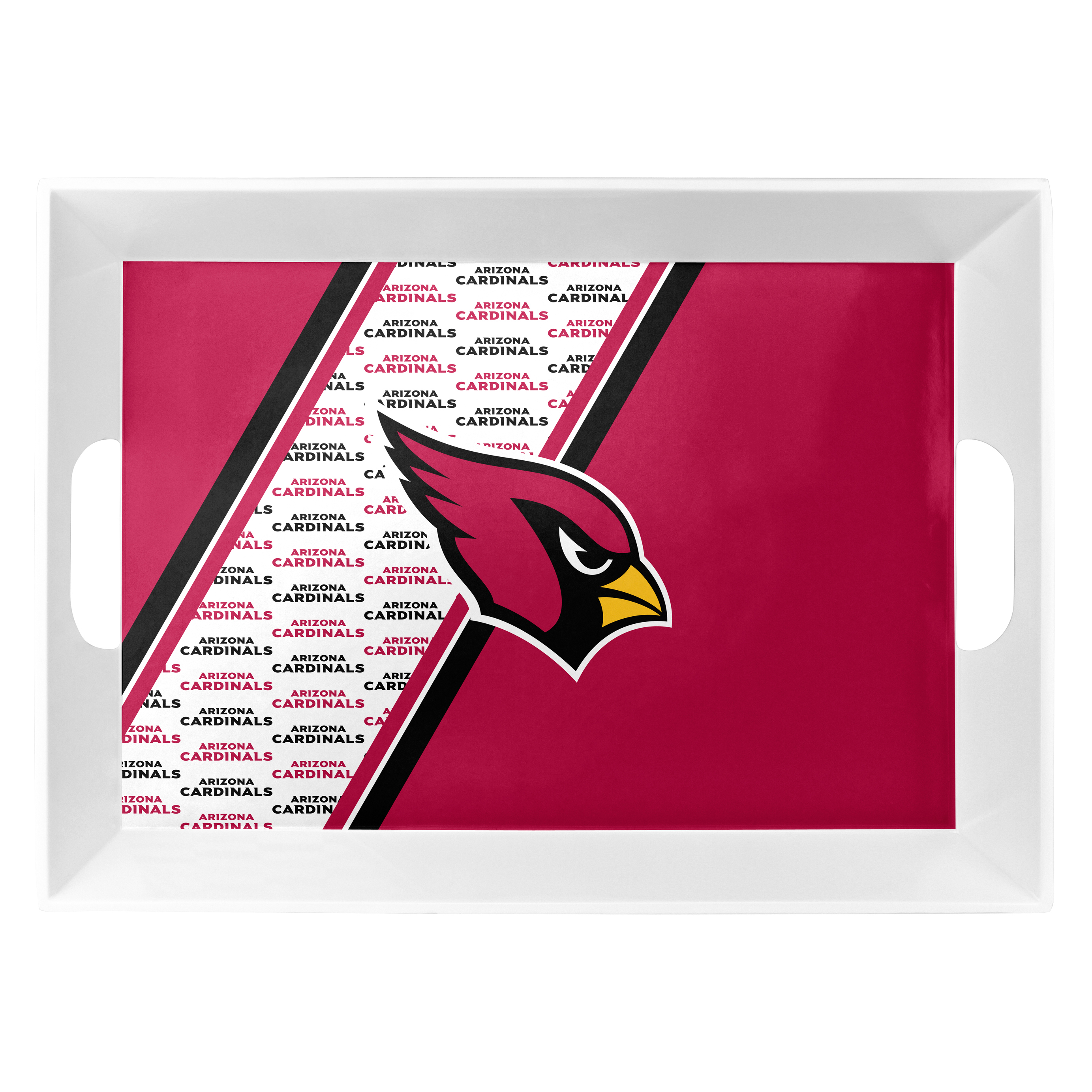 Arizona Cardinals Serving Tray 18x12x3 Melamine