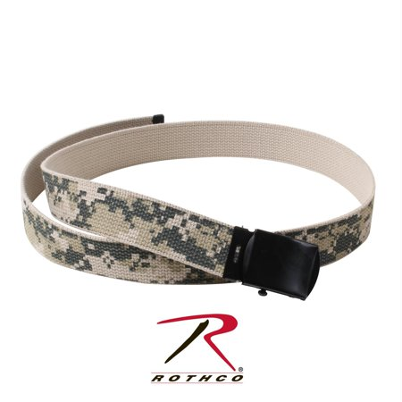 ACU Digital Camouflage Web Belt Black Buckle 54 Inches.