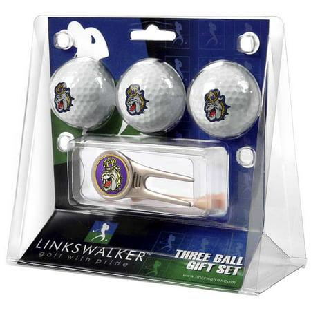 LinksWalker James Madison Dukes Golf Balls, 3 Pack