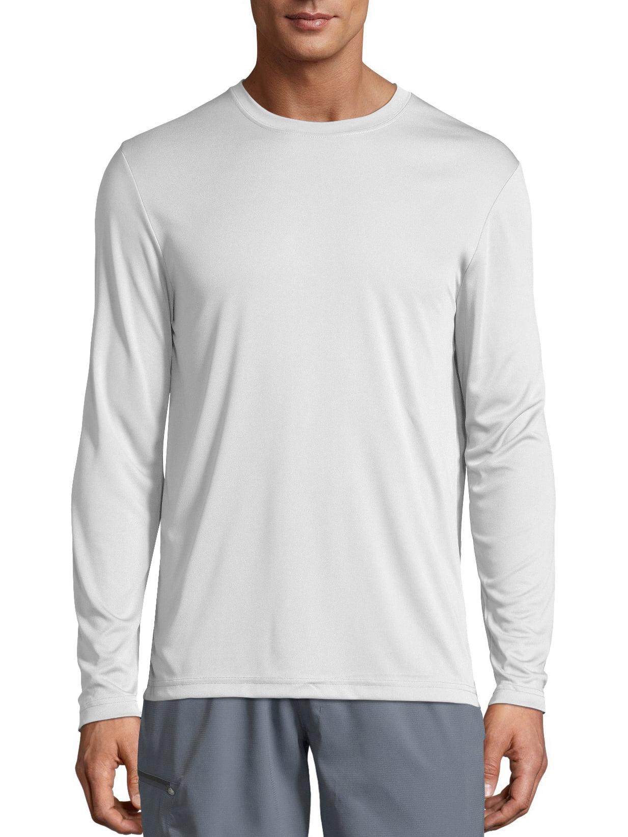 24e46f4b52d Hanes - Hanes Sport Mens Cool DRI Performance Long Sleeve Tshirt (50+ UPF)  - Walmart.com