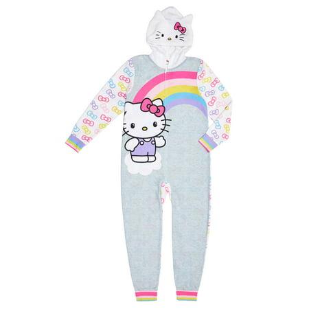 Hello Kitty Girl's Hooded Blanket Sleeper (Little Girls & Big Girls)