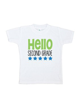 Custom Party Shop Kids Hello 2nd Grade School T-shirt - X-Large / 18-20