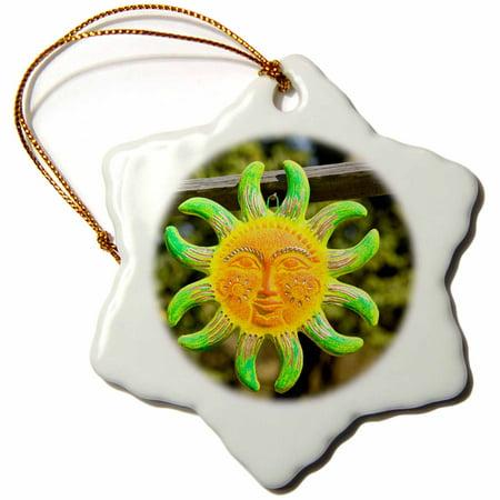 3dRose Mexico, Sinaloa State, Concordia. Mexican Pottery - SA13 WBI0265 - Walter Bibikow - Snowflake Ornament, - Mexico Mexican Pottery
