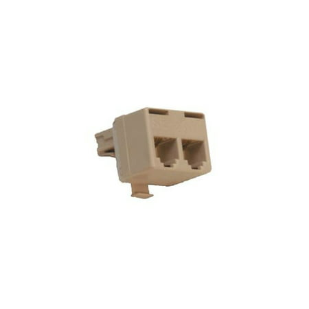 Modular Telephone Jack (Suttle 267A4 2 for 1 adapter - connect 2 telephones or equipment to an existing modular)