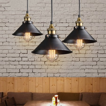 Retro Industrial Vintage Hanging Iron Ceiling Lamp Pendant Light -