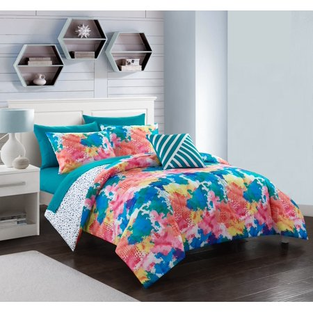Your Zone Twin Color Splash Bed in a Bag Bedding Set, 5 (Teen Bed In A Bag Sets)