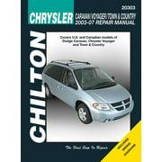 Chilton's Total Car Care Repair Manuals: Chrysler Caravan, Voyager, Town & Country 2003-2007 (Paperback)