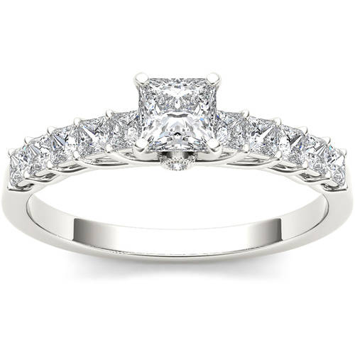 1 Carat T.W. Diamond Classic 14kt White Gold Engagement Ring