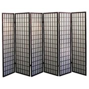 Legacy Decor 6 Panel Japanese Oriental Style Room Screen Divider Espresso Color