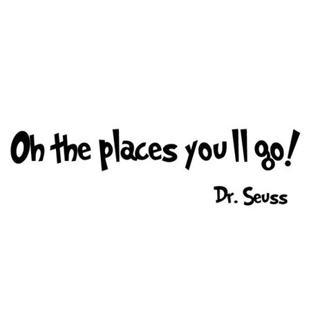 VWAQ Oh the Places You'll Go Dr Seuss Wall Decal