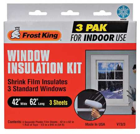 FROST KING V73/3H Shrink Window Kit,Indoor,42 x 62 In
