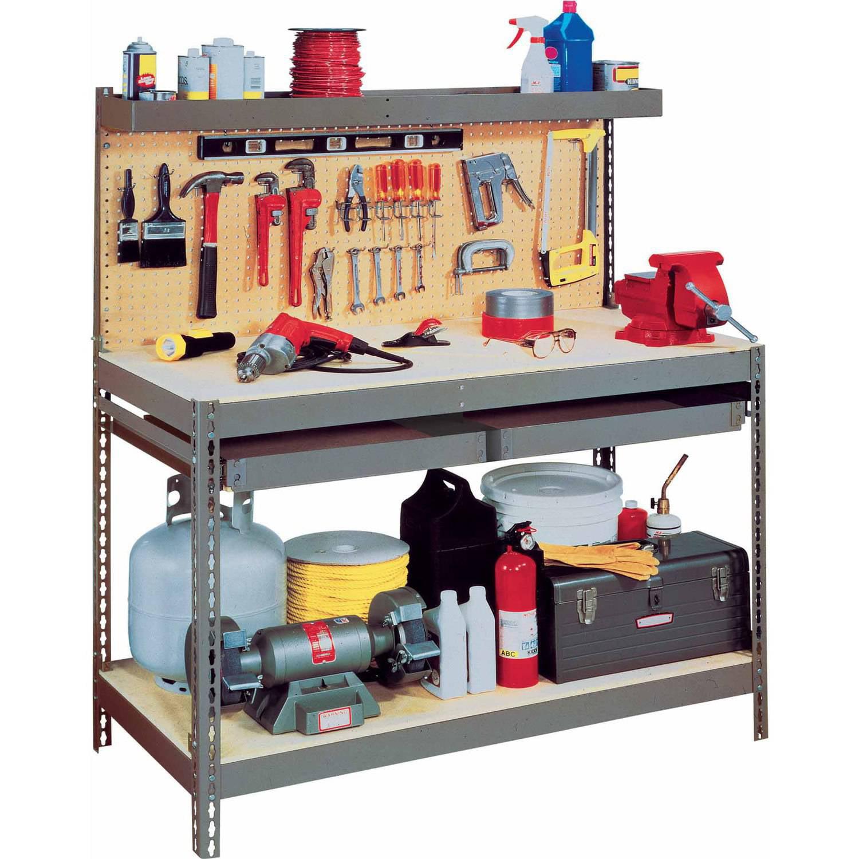 Edsal Heavy-Duty Steel Workbench, MRWB-6
