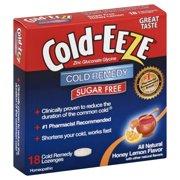 COLD-EEZE Lozenges Natural Honey Lemon Sugar Free 18 per box