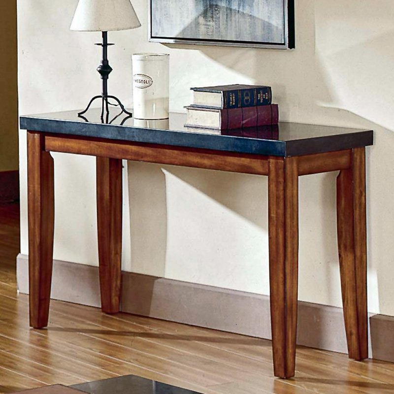 Steve Silver Montibello Granite Top Console Table