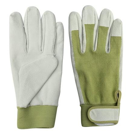 Womens Bionic Gardening Gloves - Worth Garden 9.5 in. Leather Gardening Ladies Gloves