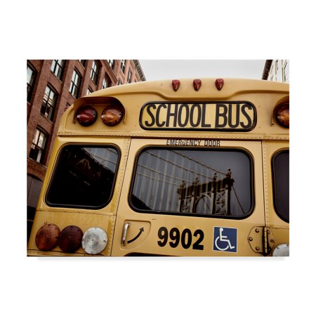 (Trademark Fine Art 'NYC School Bus' Canvas Art by Nina Papiorek)