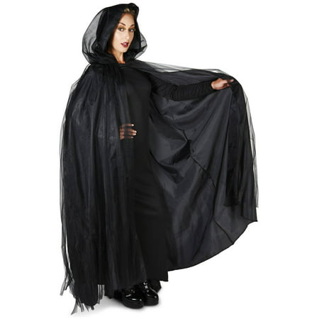 Black Mesh Adult Cape Halloween Accessory