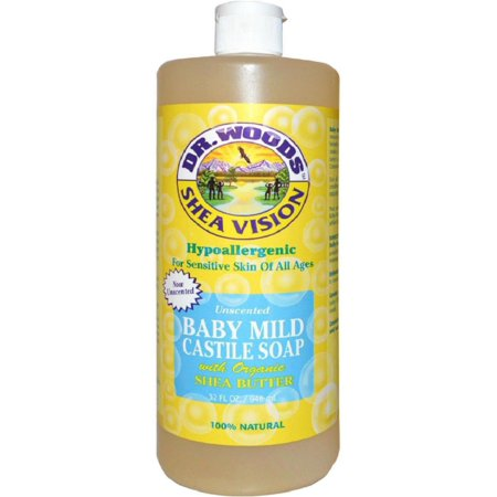 Dr. Woods Shea Vision Baby Mild Castile Soap with Organic Shea Butter 32 (Dr Woods Black Soap With Organic Shea Butter)