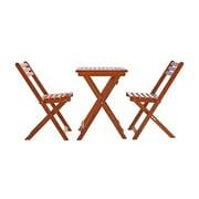Pemberly Row Premium Hardwood 3 Piece Outdoor Bistro Set