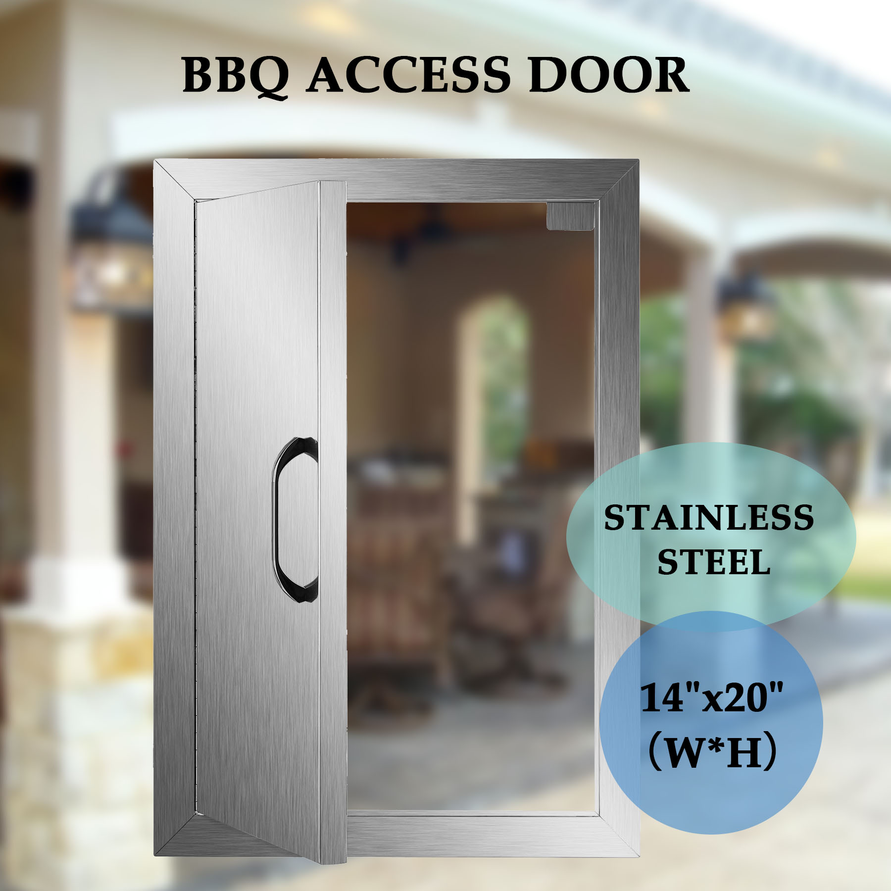 Single Walled Access Doors Outdoors Kitchen / BBQ Island 304 Stainless Steel