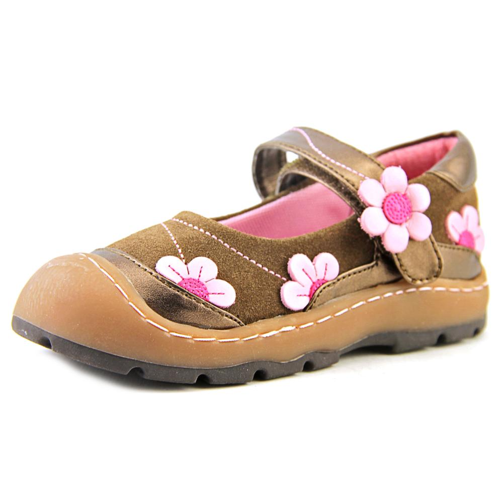Jumping Jacks Flower Breeze  EW Round Toe Leather  Mary Janes