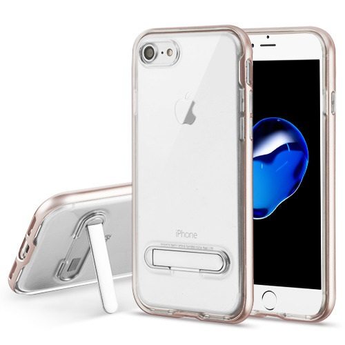 MUNDAZE Rose Gold Candy Acrylic Magnetic Stand Case For Apple iPhone 8