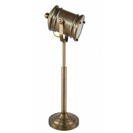 Restoration Brass Directors Table Lamp